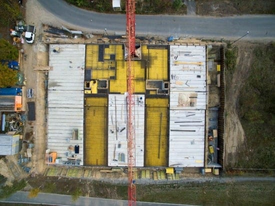 Baustellenbesuch DAS_FLEX - Aufnahme aus der Vogelperspektive | PLAN.CONCEPT