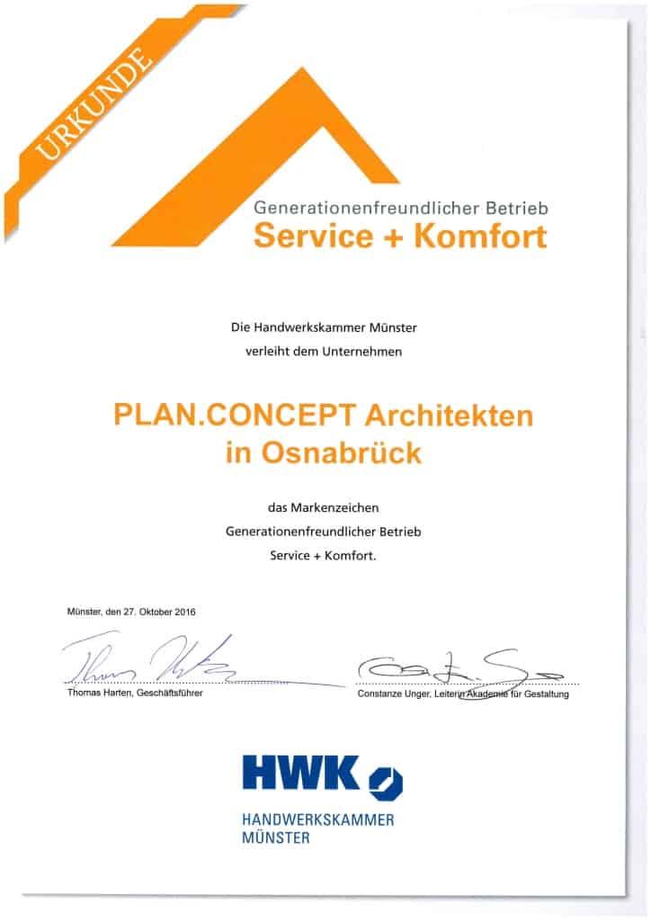 Markenzeichen Generationenfreundilcher Betrieb Service + Komfort