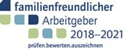 """Logo """"Familienfreundlicher Arbeitgeber"""" 2018 -2021"""