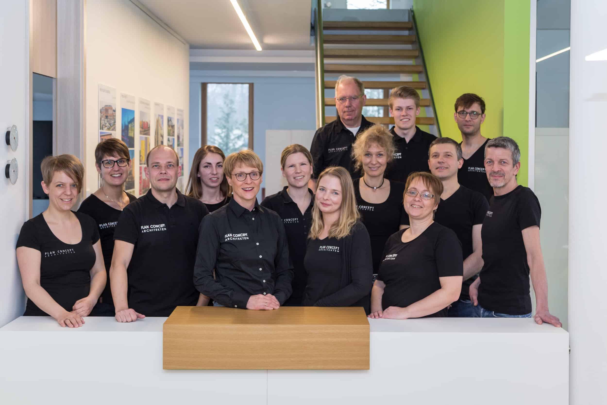 Die Mitarbeiter der PLAN.CONCEPT Architekten GmbH in Osnabrück
